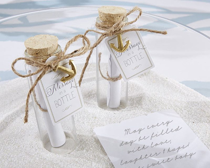 """Message in a Bottle"" Glass Favor Bottle (Set of 12)"