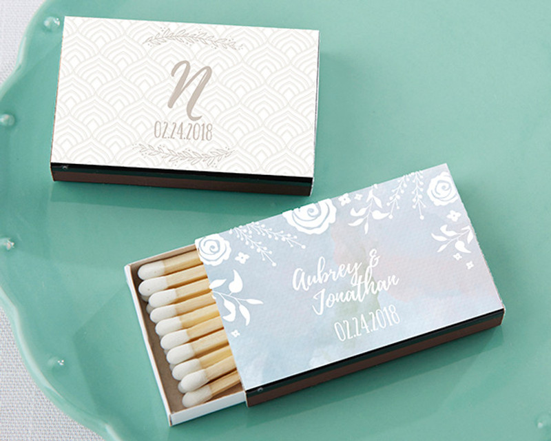 Personalized Black Matchboxes - Ethereal