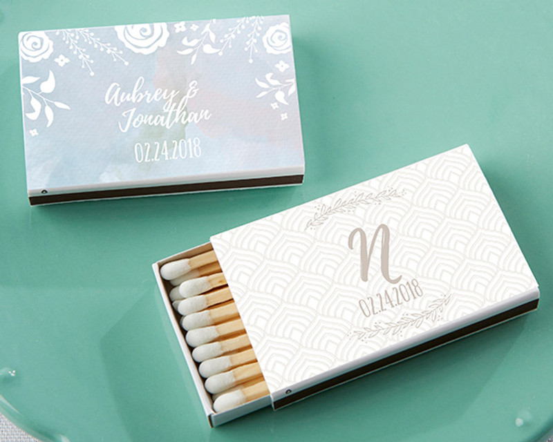 Personalized White Matchboxes - Ethereal