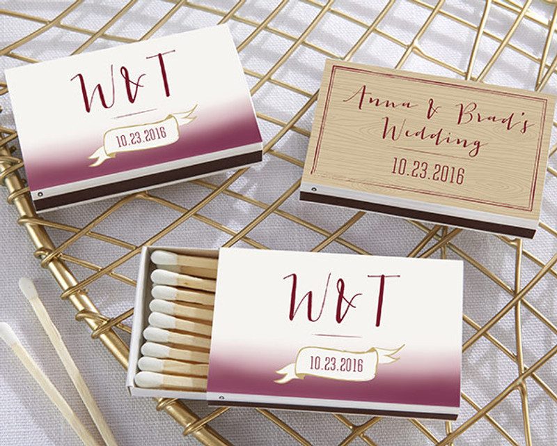 Personalized White Matchboxes - Vineyard