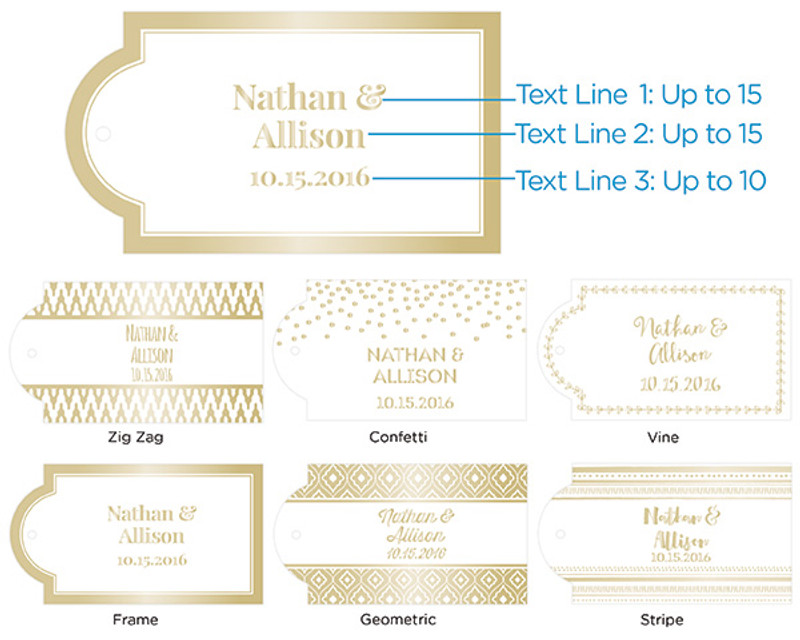 Gold Foil Dot Welcome Bags (Set of 12)