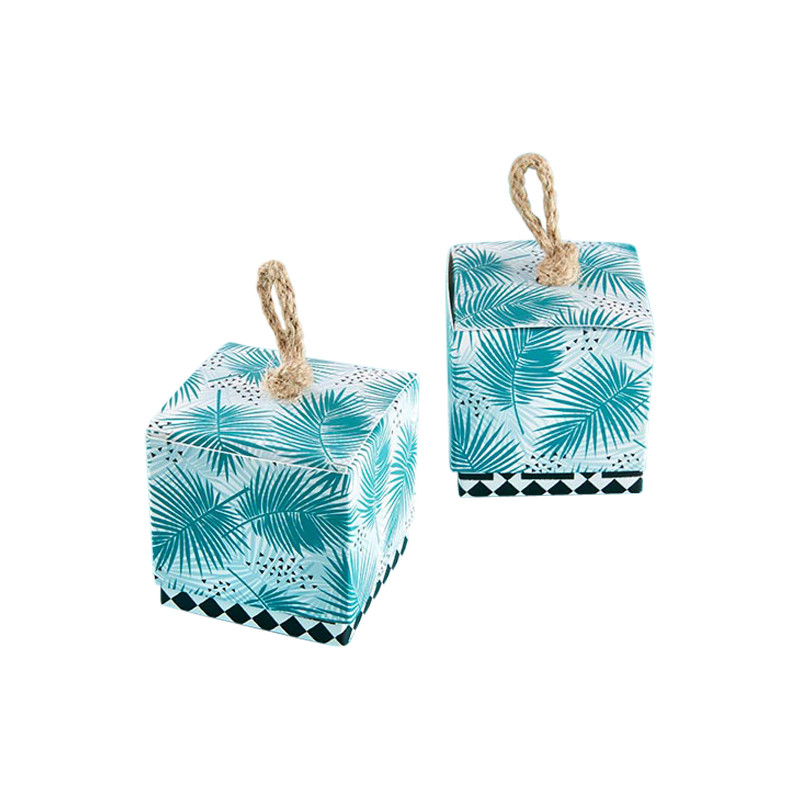 Tropical Chic Palms Favor Box (Set of 24)