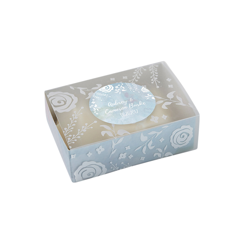 Watercolor Frosted Floral Slide Favor Box (Set of 24)