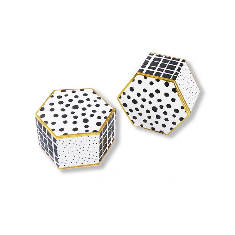 Modern Classic Hexagon Favor Box (Set of 12)