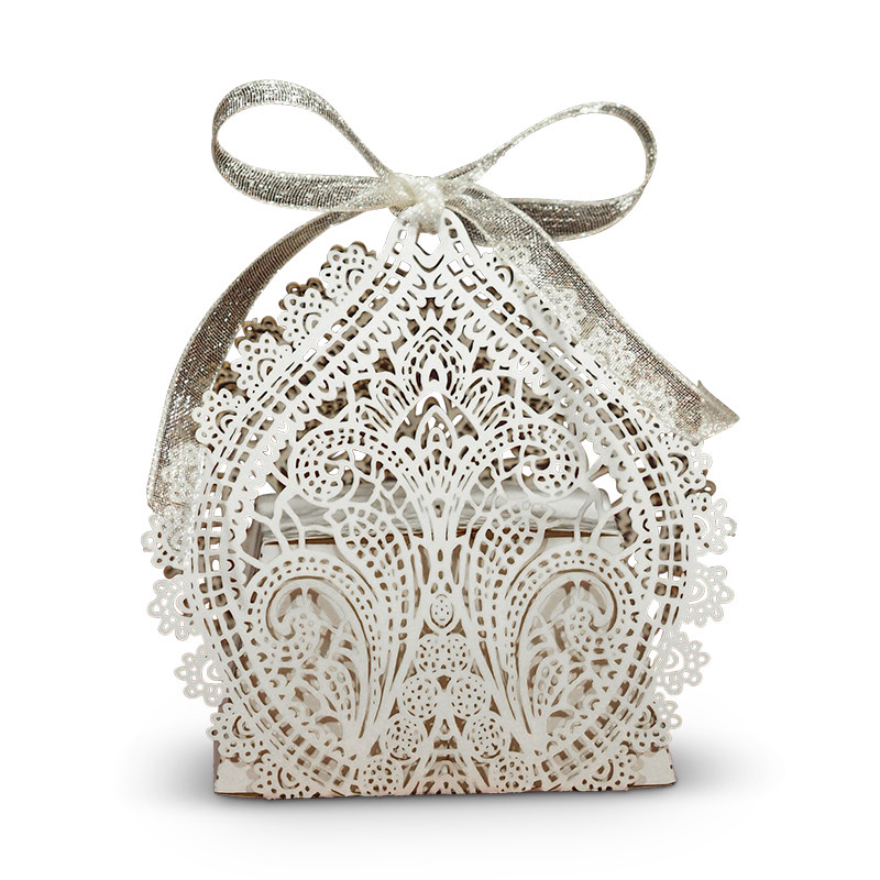 Chantilly Lace Favor Box White
