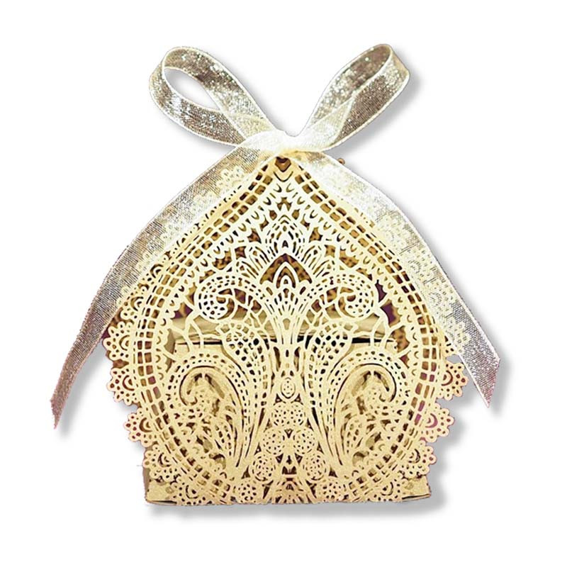 Chantilly Lace Favor Box Gold