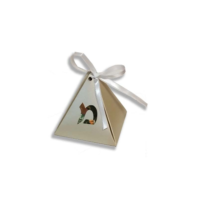 Personalized Gold Pyramid Box (pack of 25) More colors available.
