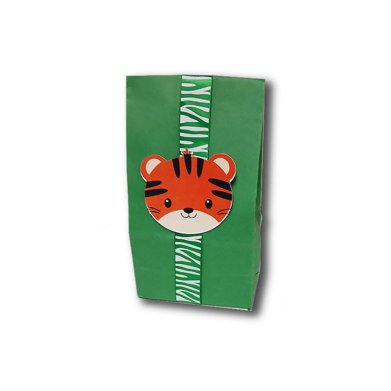 Tiger Upsherin Favor Bag with ribbon