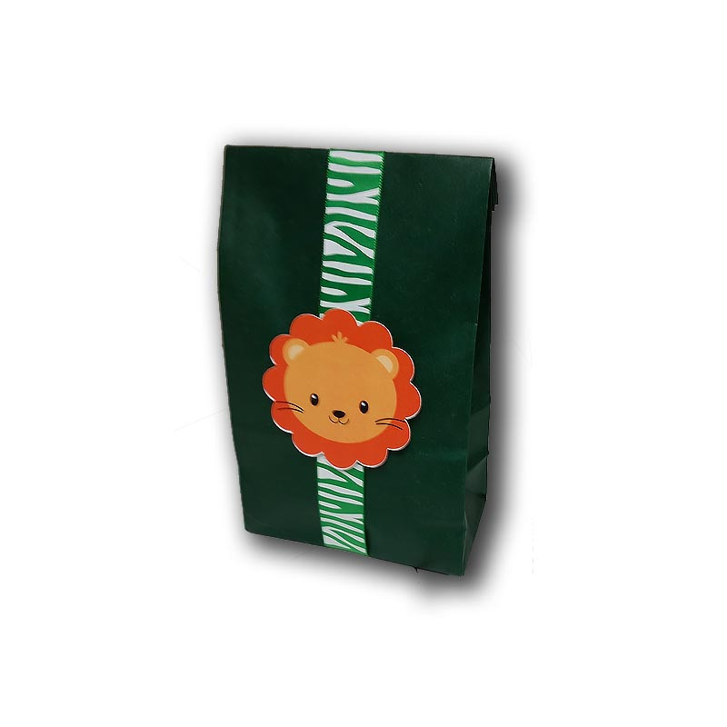 Lion Upsherin Favor Bag with ribbon
