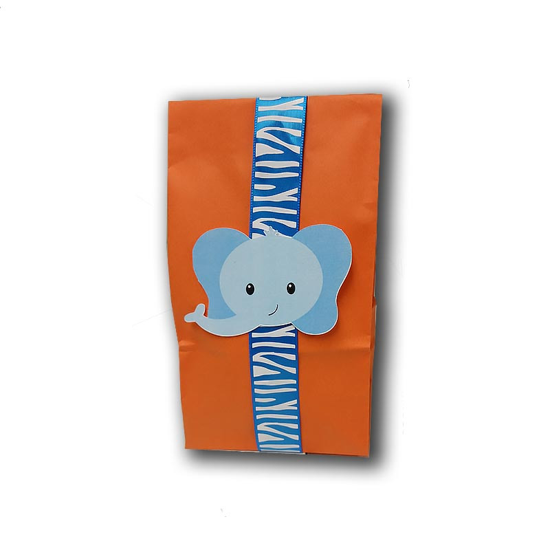 Elephant Upsherin Favor Bag with ribbon