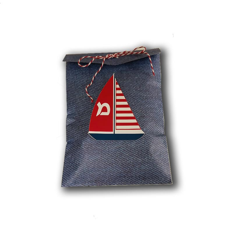Sailboat Nautical Upsherin Favor Bag (Twine sold separately)