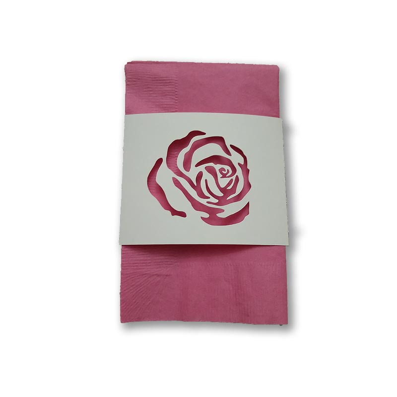 Rose napkin wrap