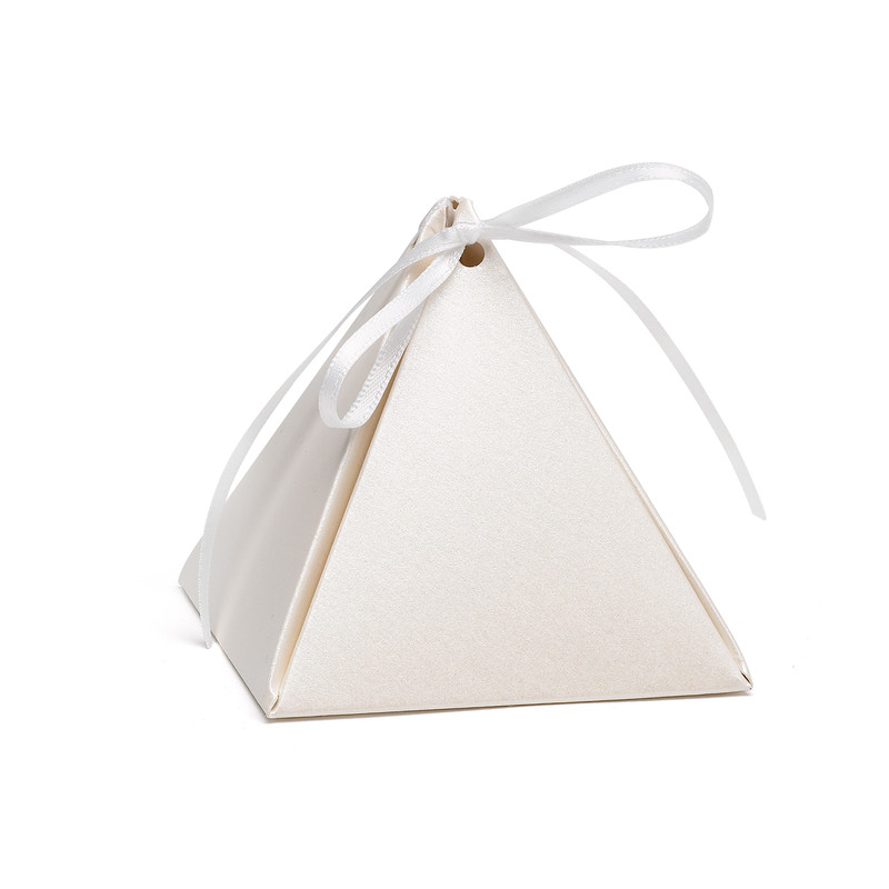 Personalized Pyramid Favor Box (6 Colors Available)