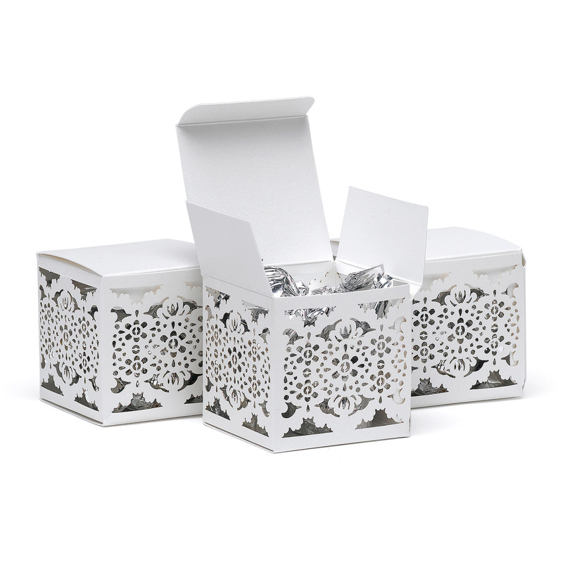 Lace Lasercut Favor Box  (Personalization is available)