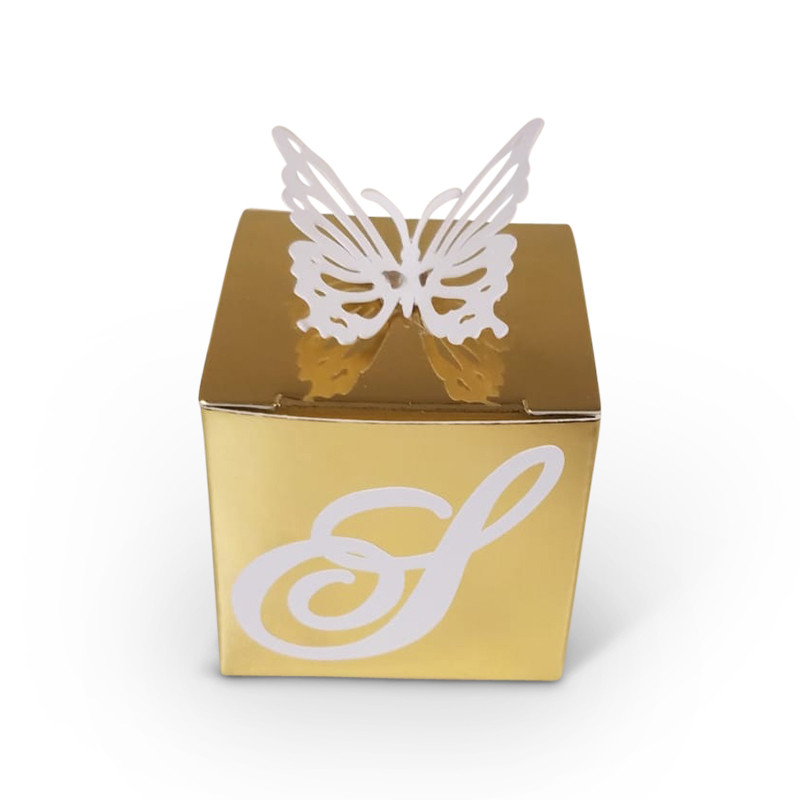 Lasercut Butterfly Top Favor Box