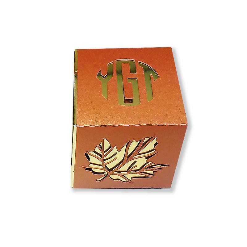 Monogrammed Lasercut Leaf Favor Boxes