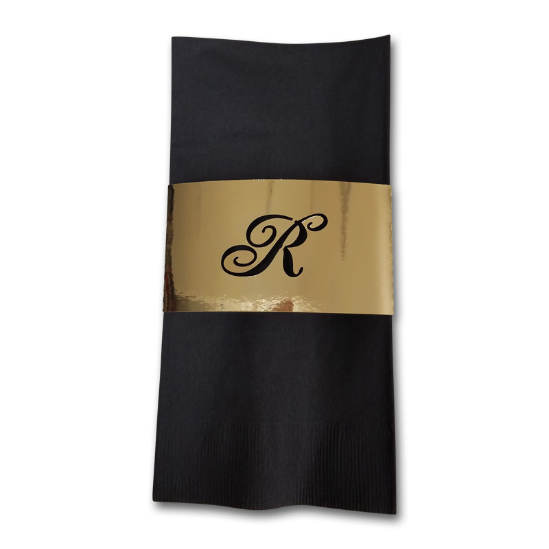 Metallic Monogrammed Napkin Band