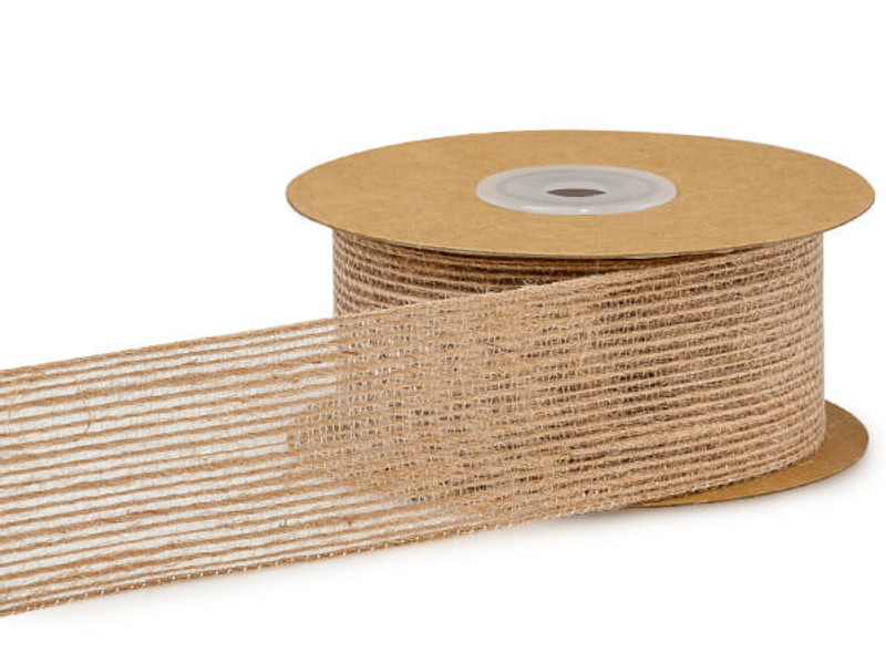 "Woodland Natural Ribbon, 1-1/2""x10 yard"