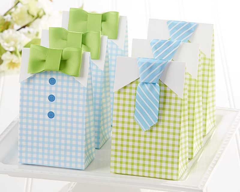 """MY LITTLE MAN"" CANDY BOXES (Set Of 24) (AVAILABLE PERSONALIZED)"