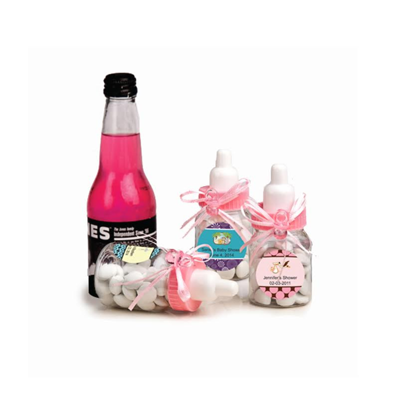 Pink Baby Bottle Favors (See Description Below To Design Your Label)