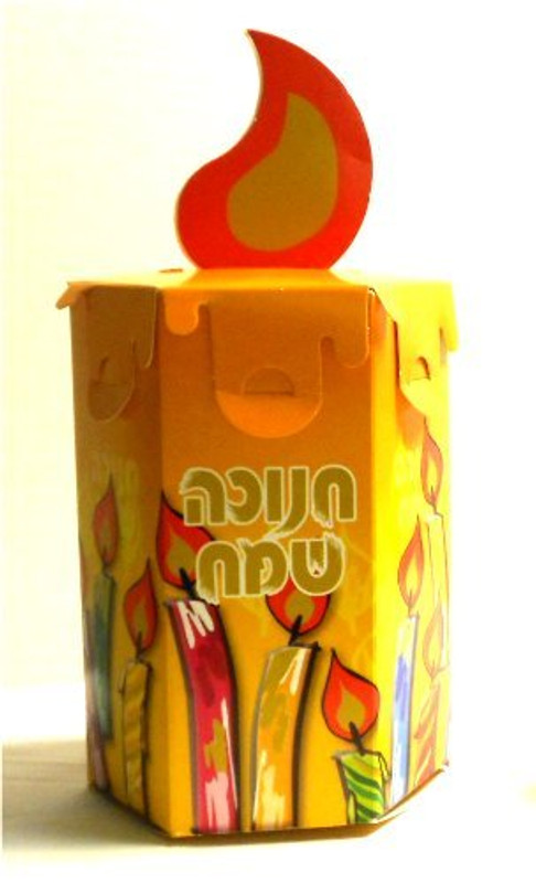 Chanukah Candle Goodie Box