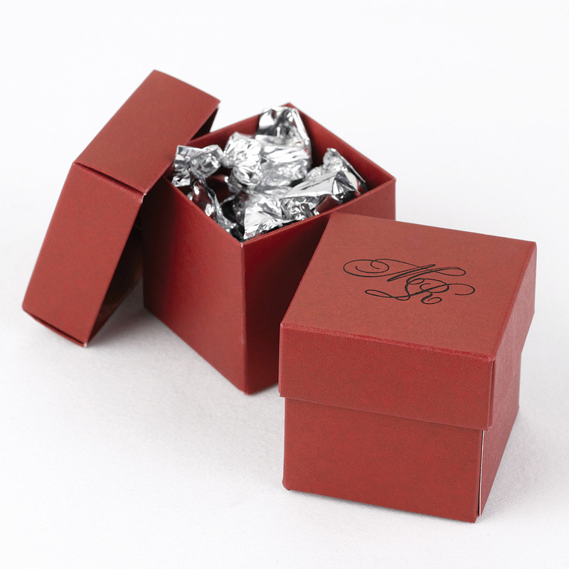 Claret 2 piece Favor Boxes (Set of 25)