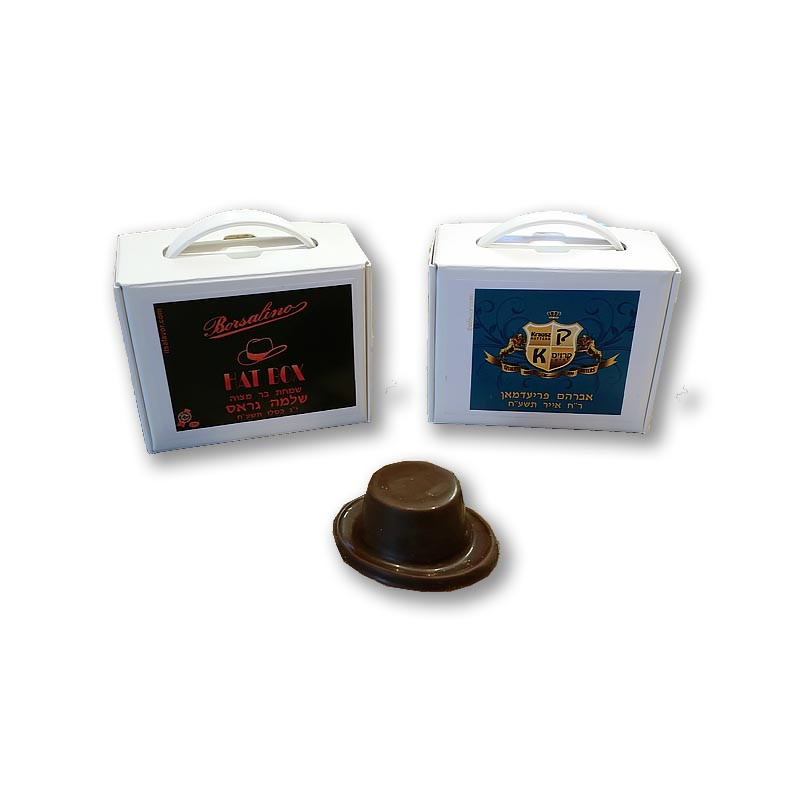 Personalized Hat Box with Chocolate Hat