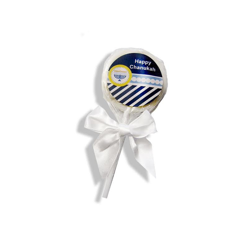 Personalized Chanukah Chocolate Lollipops