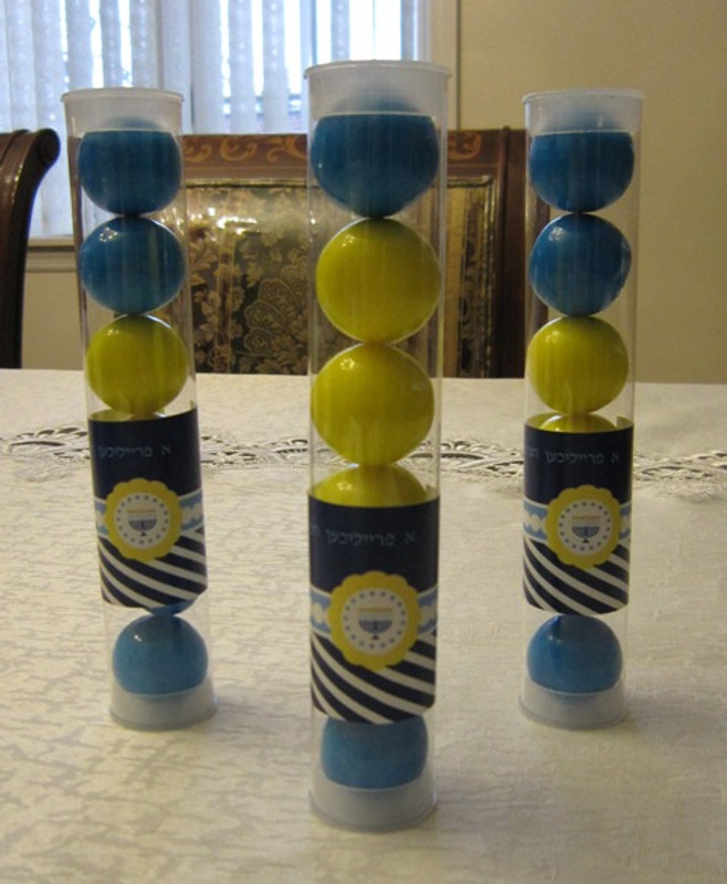 Personalized Chanukah Candy Tubes
