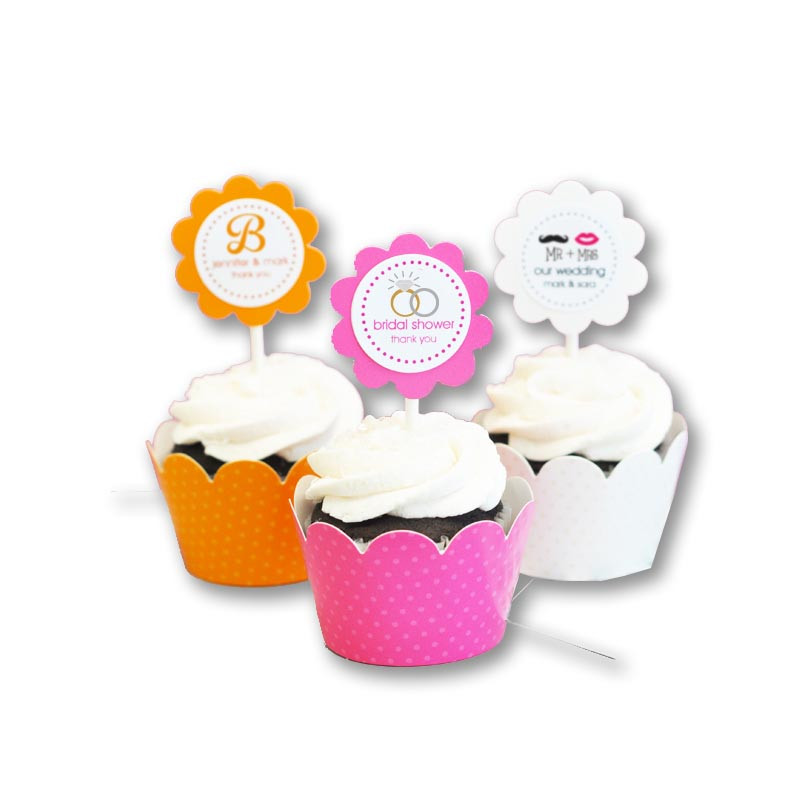 Theme Cupcake Wrappers Cupcake Toppers Set Of 24