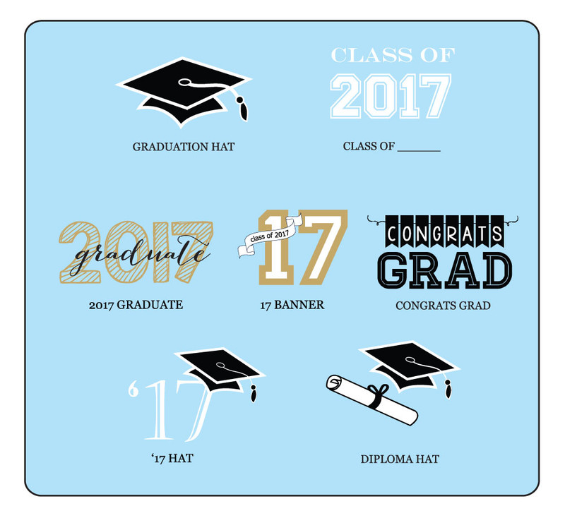 Graduation Frame Personalized Labels