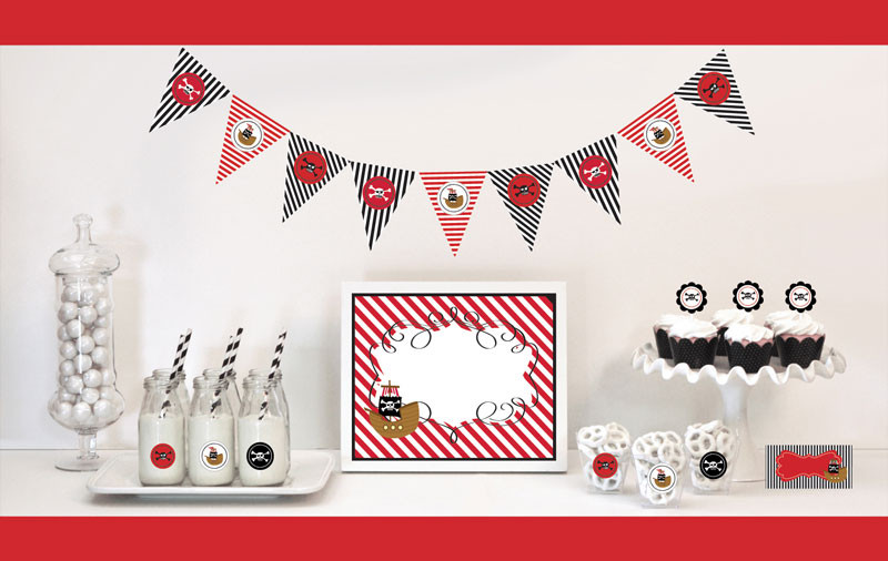 Pirate Party Decorations Starter Kit