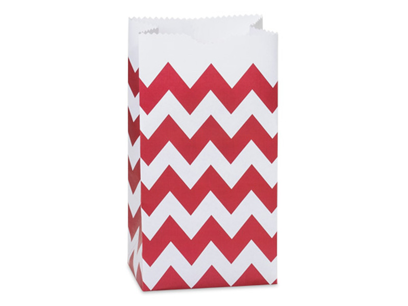 Chevron Design Paper Upsherin Bags With Optional Personalized Label. 4 Colors Available.