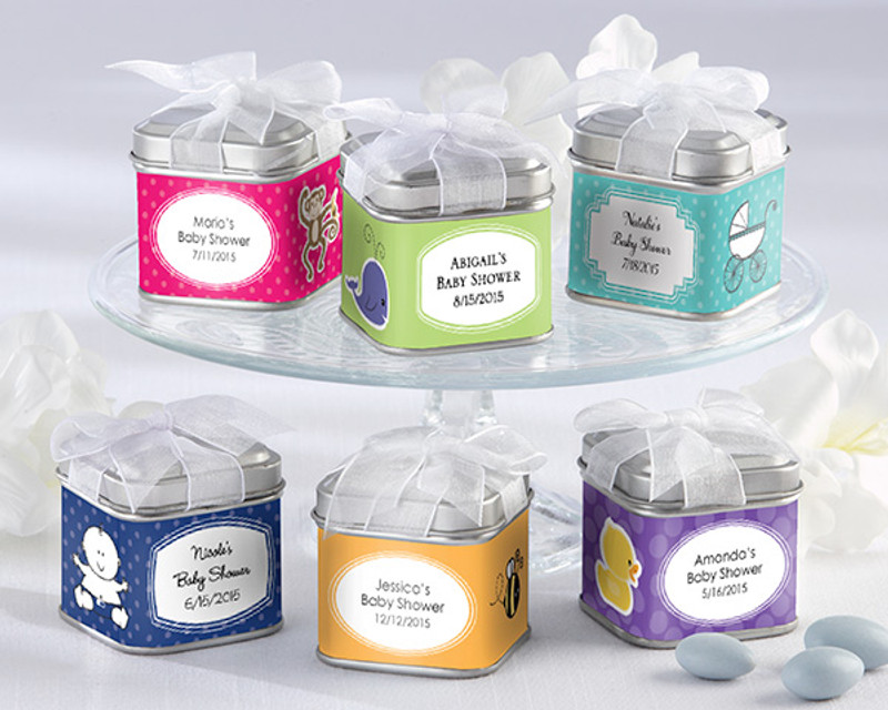 """UNEXPECTED TREASURES!"" FAVOR TIN - BABY (SET OF 12)"