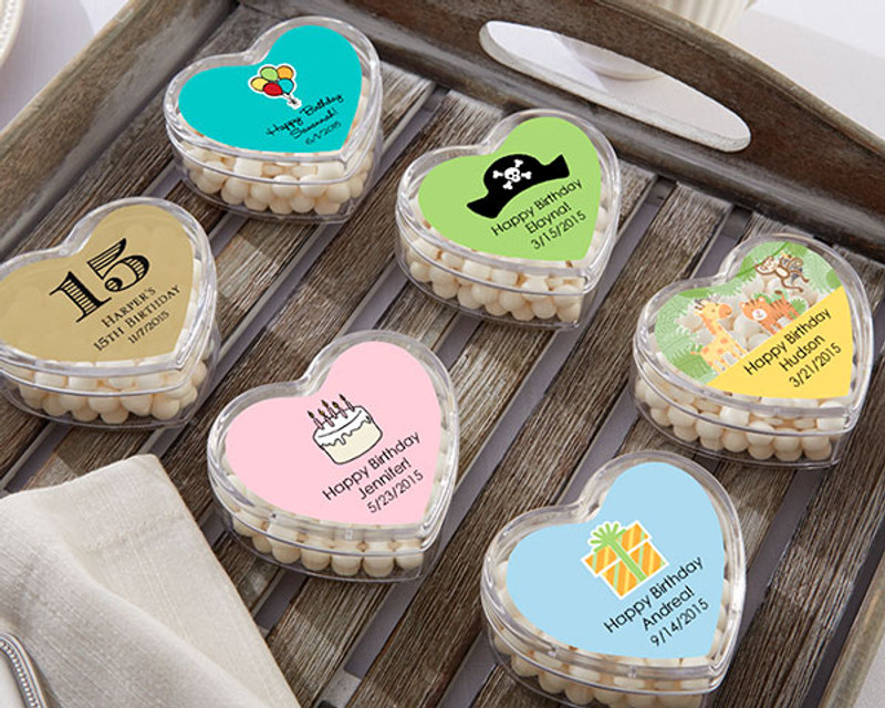 HEART FAVOR CONTAINER - BIRTHDAY (SET OF 12)