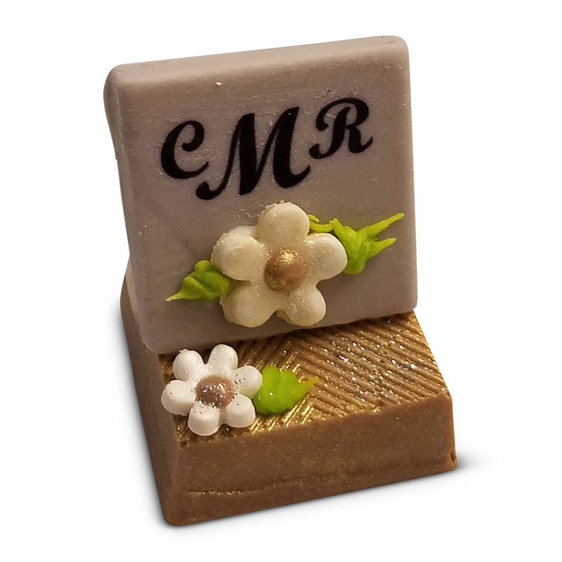 Cake Stand with Monogrammed Chocolate