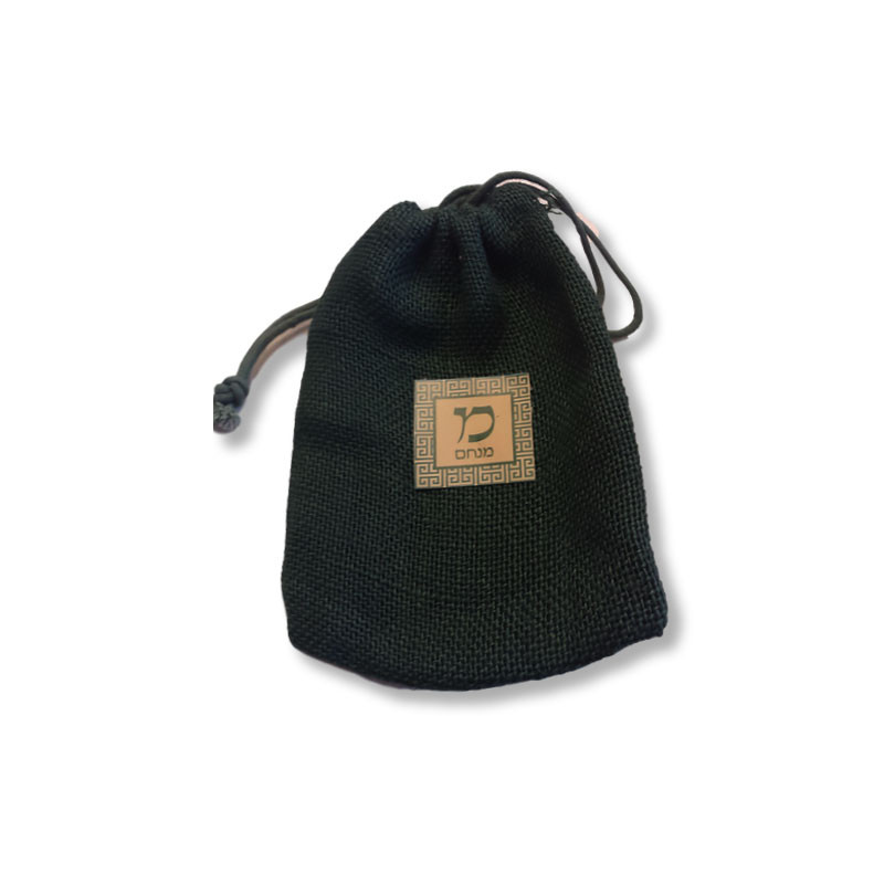 """Green Burlap 5"""" x 7"""" Upsherin Bag with Optional Personalized Tag"""