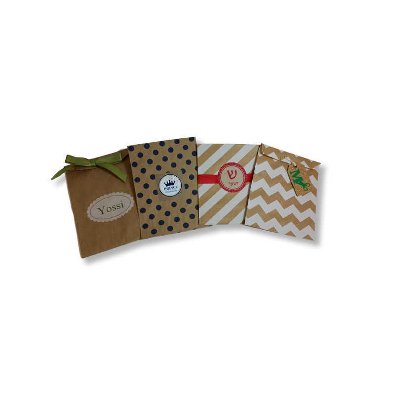 Kraft Paper Favor Bags with Optional Personalized Label (label & ribbon sold below)
