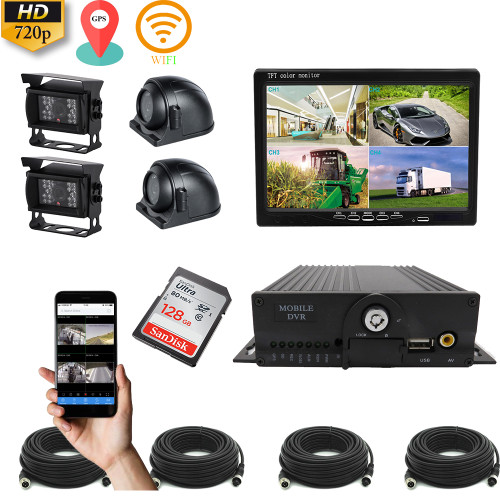 10inch GPS WIFI Vehicle CCTV Kit