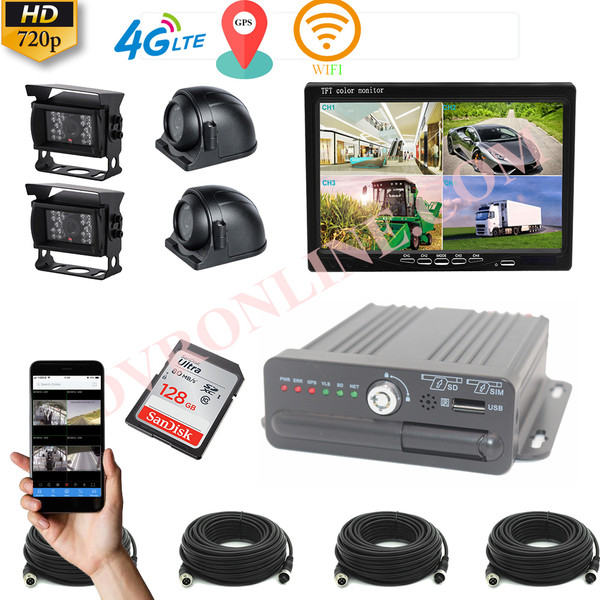 Hikway 4 Camera Vehicle 720P MDVR Kit