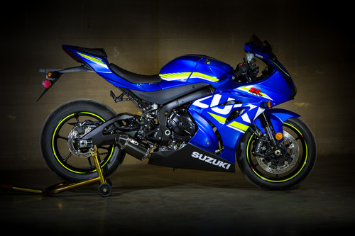 2017-2020 GSX-R1000 Street Slayer Full System with Full Titanium Tubing and CARBON Muffler