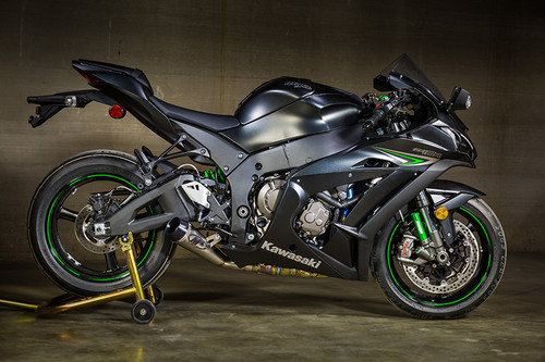 "2016-2017 KAW ZX10R Titanium ""GP"" Slip On (Removes Stock Catalytic Converter)"