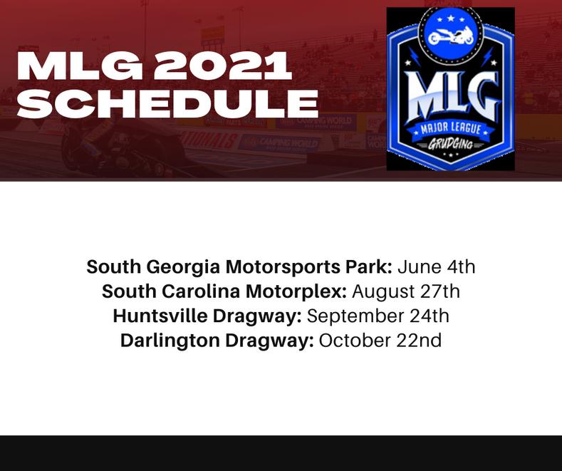 MLG 2021 Racing Schedule