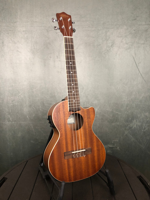 Lanikai Mahogany Tenor with Cutaway and Pickup | Full front view | Acoustic Corner | Black Mountain, NC
