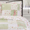 Upland Quilteed Coverlet Reversible Spring Floral Patchwork Print /Detailed Image
