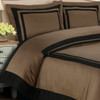 Hotel-100-Percent-Cotton-Duvet-Cover-Set-Taupe/ Black