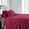 Burgindy-Pure Cotton 600 Thread Count Sheets Damask Striped Bed Sheet Set