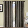 Geneva Lined Energy Saving Black-Out Grommet Curtain Panel Single-Grey