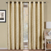 Geneva Lined Energy Saving Black-Out Grommet Curtain Panel Single-Ivory
