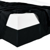 Split Corner 100% Cotton Solid 300TC Bed Skirts - Black